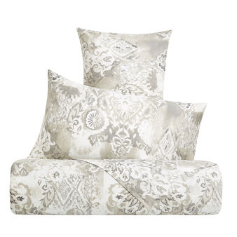 Cotton satin duvet cover set with baroque pattern