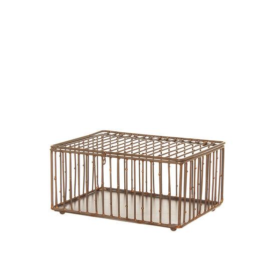 Box portagioie filo metallico