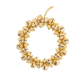 Wreath with gold bells