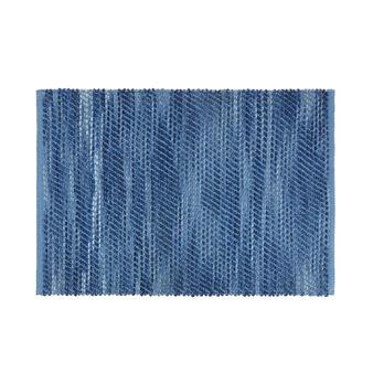 Bathroom rug with mélange effect