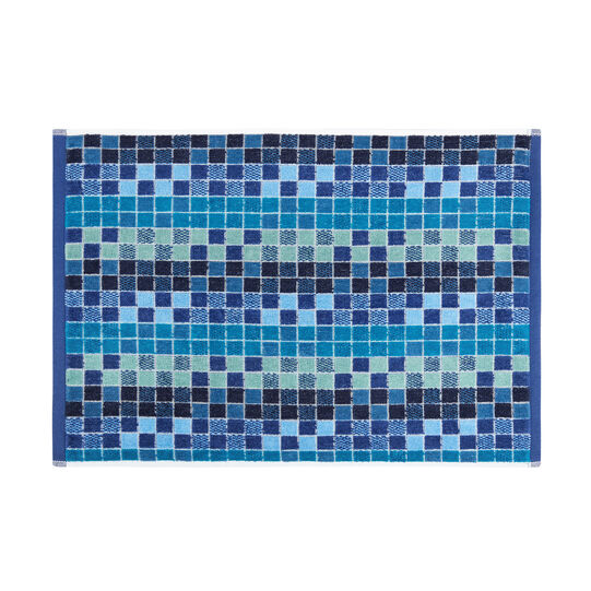 Cotton velour towel with mosaic pattern
