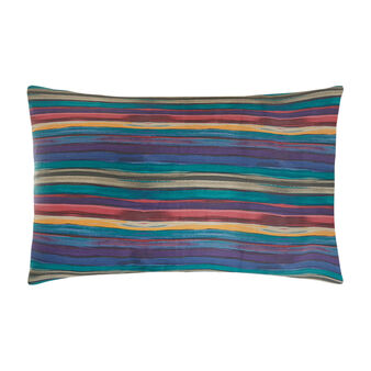 Cotton satin pillowcase with striped pattern