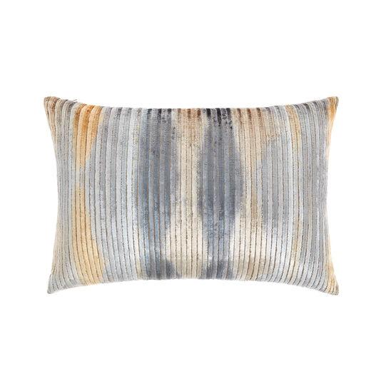 Ribbed velvet cushion 35x55cm