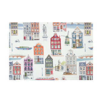 100% cotton table mat with Amsterdam print