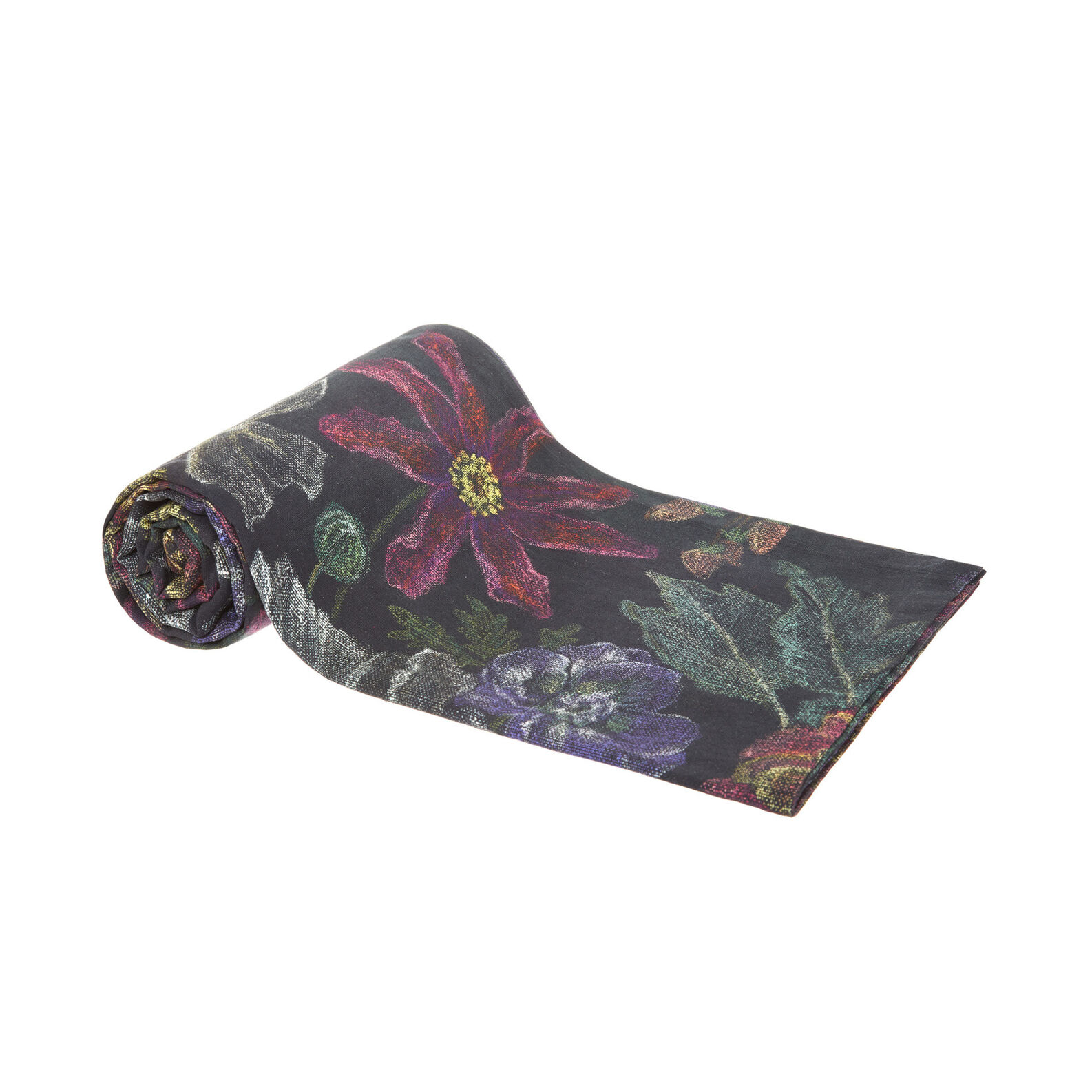 100% cotton throw with floral print