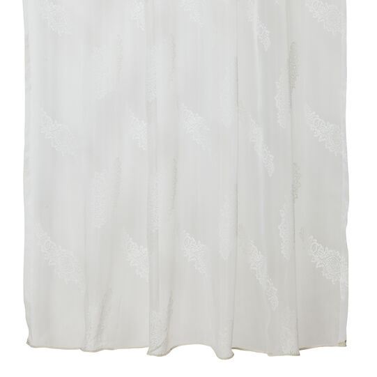 Curtain with glossy print