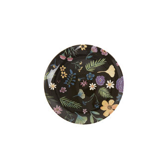 Ceramic side plate with flowers print