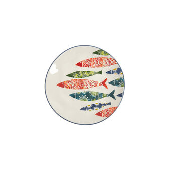 Hand-painted ceramic side plate