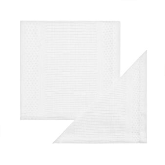 Set of two 100% Egyptian cotton jacquard napkins