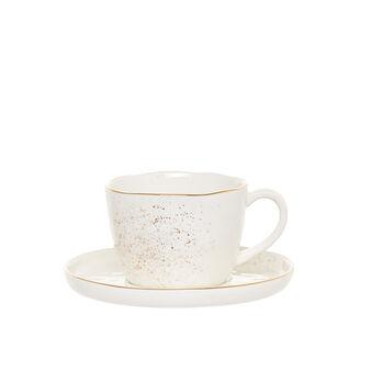 Tazza da tè porcellana spruzzata oro