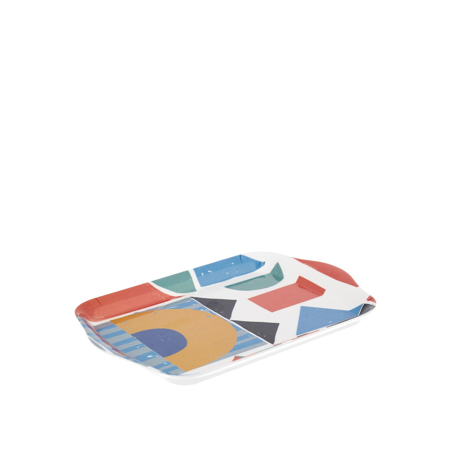 Melamine tray with Bauhaus motif