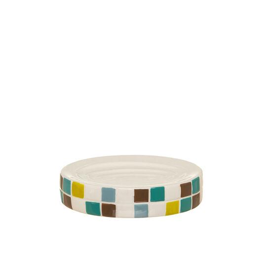 Mosaic-effect soap dish