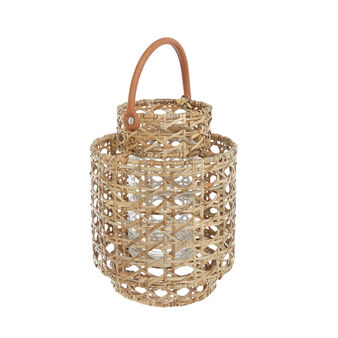Hand-woven bamboo and rattan lantern
