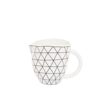 Porcelain milk jug with geometric motif