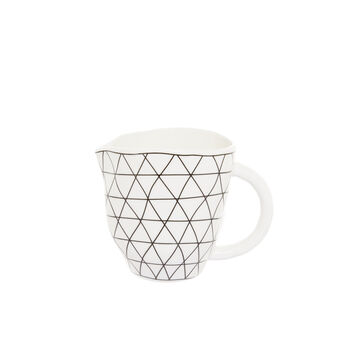 Porcelain milk jug with geometric motif
