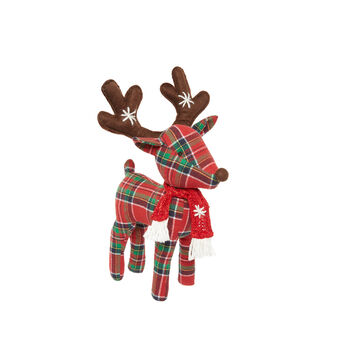 Decorative reindeer soft toy