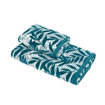 Asciugamano cotone velour motivo foglie