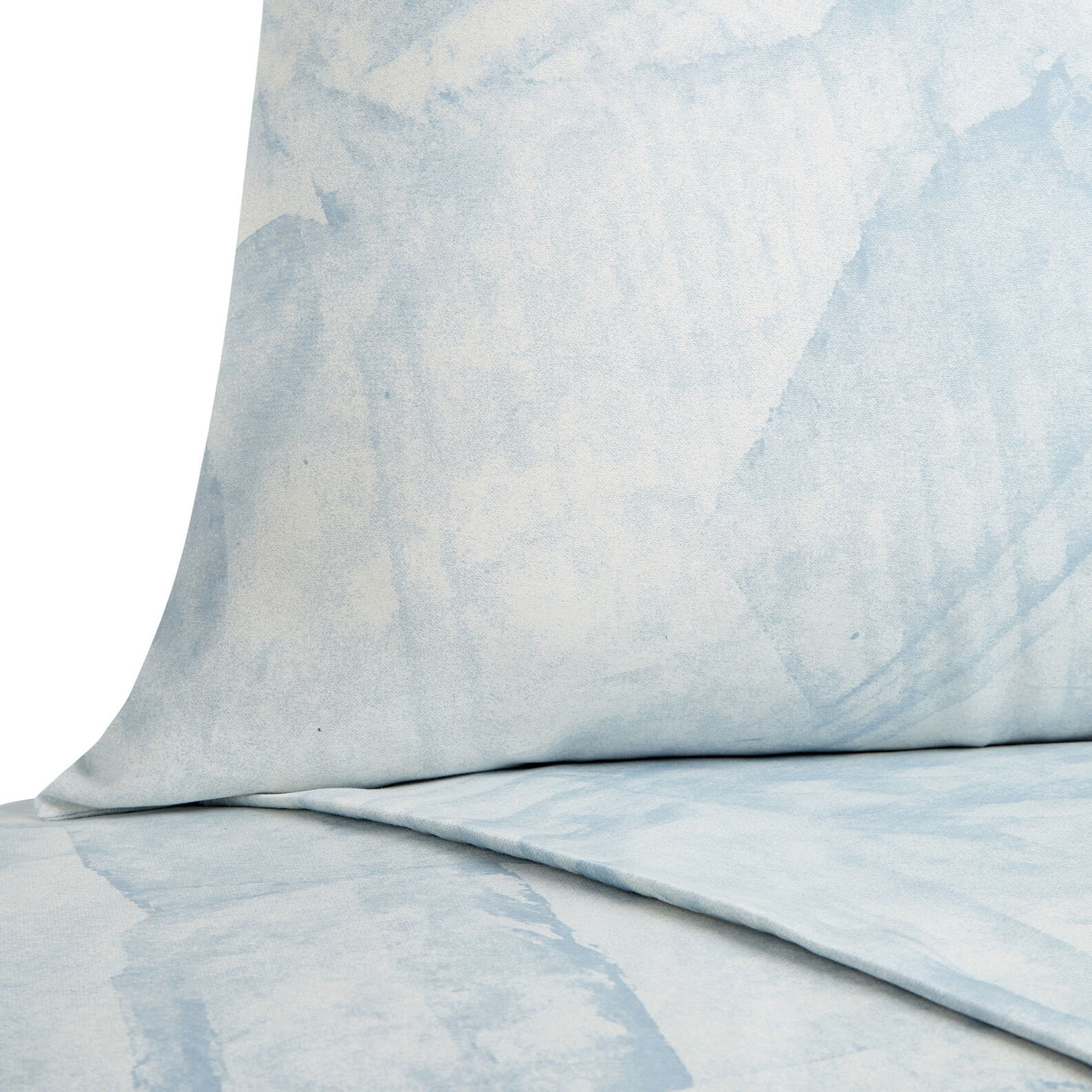 Cotton satin duvet cover with marble pattern