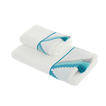 100% cotton towel with tassels