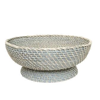 Rattan centrepiece bowl