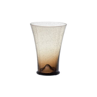 Conical speckled drinking glass
