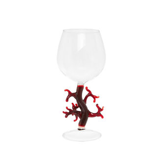 Glass goblet with coral detail