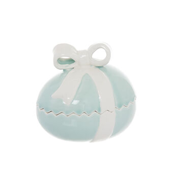 Egg-shaped porcelain box