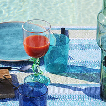 Blue glass bubble effect