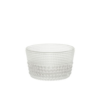 Small diamond-effect glass bowl