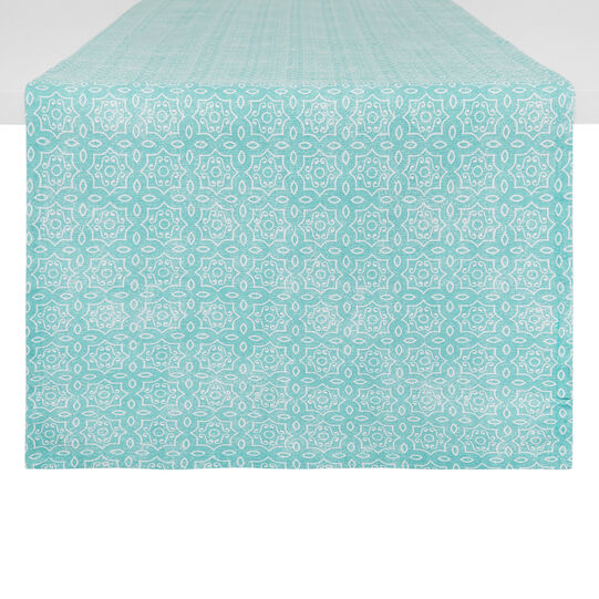 100% cotton table runner with micro pattern