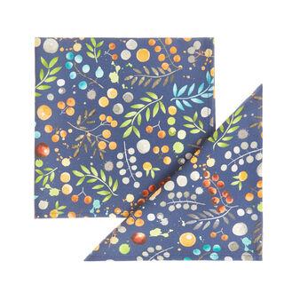 Set 2 tovaglioli twill di cotone stampa fiori
