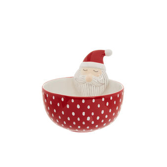 Small ceramic bowl with Father Christmas