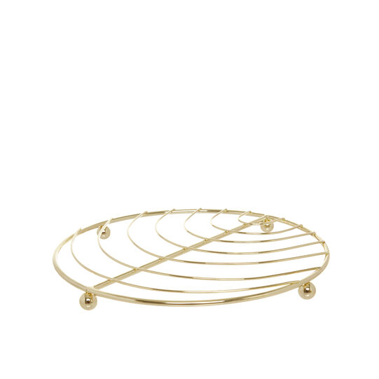 Gold wire trivet