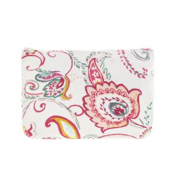 Beauty case spugna di cotone floreale