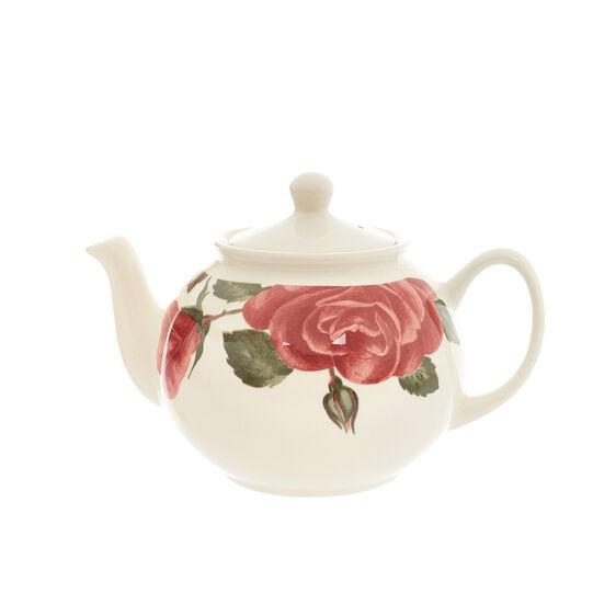 Floral decorated ceramic teapot