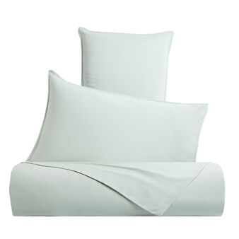 Solid colour washed cotton bed sheet set