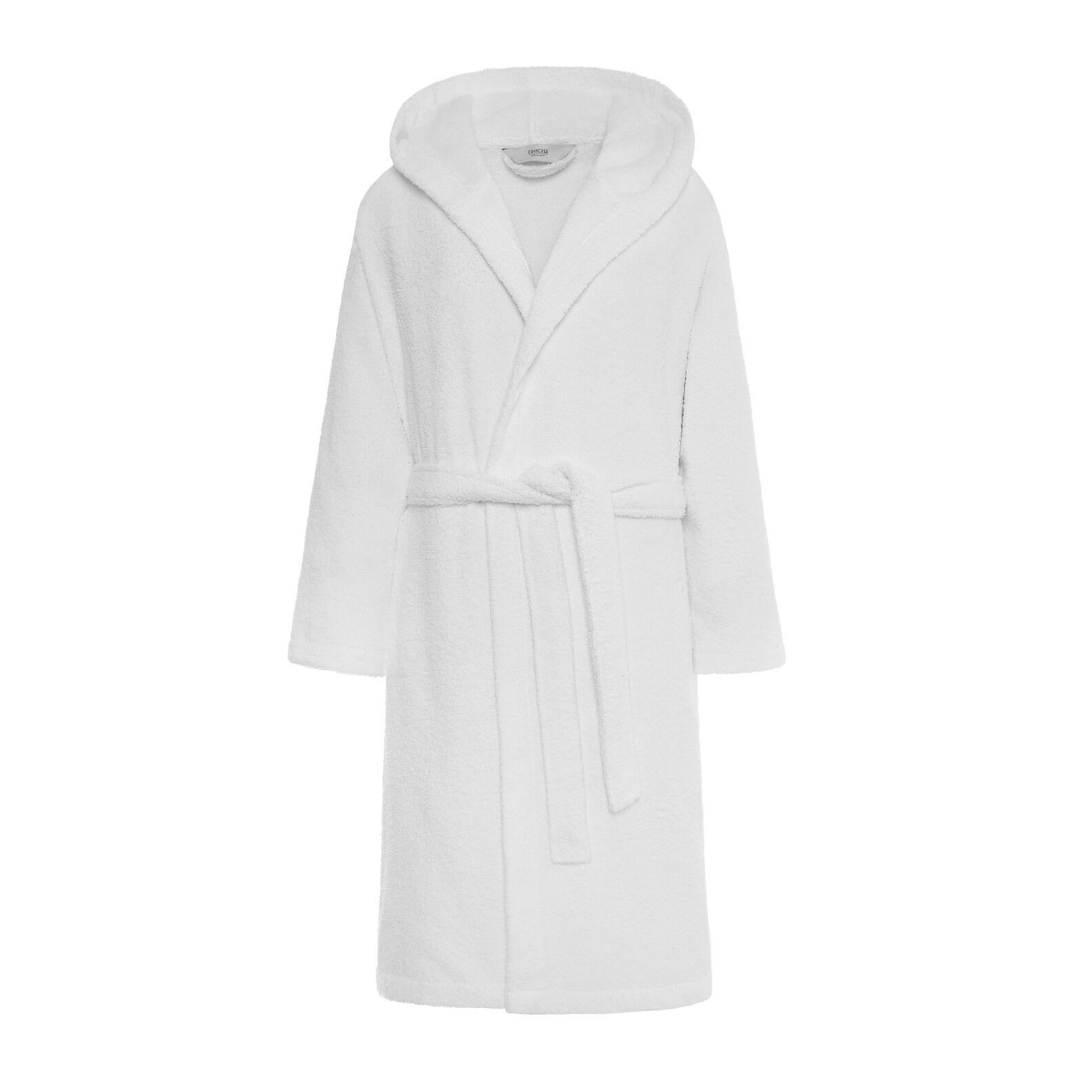Solid colour cotton terry bathrobe