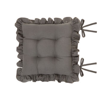 Cuscino da sedia puro cotone con volant