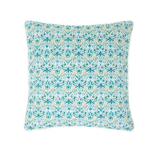 Multi-coloured cushion in cotton percale