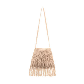 Bag in woven cotton.
