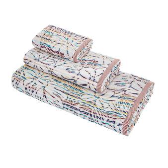 Asciugamano cotone jacquard motivo tropicale
