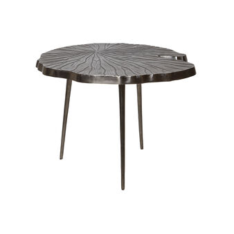 Leaf coffee table in leaf-shaped aluminium