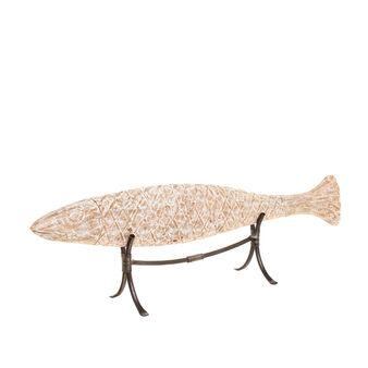 Pesce legno intagliato a mano