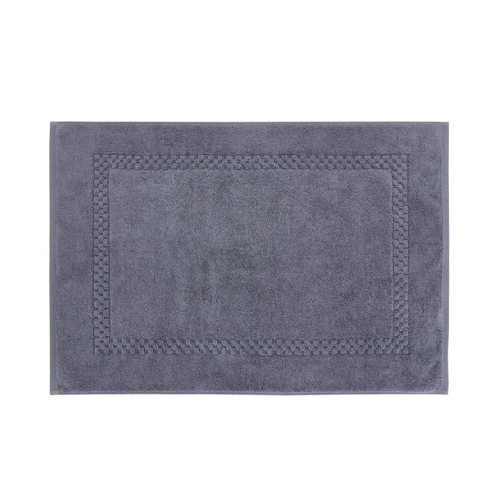 Thermae solid colour 100% cotton bath mat