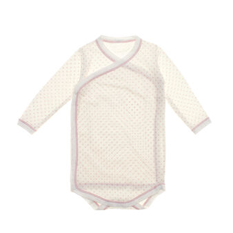 100% cotton bodysuit with printed hearts