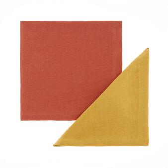 Set 2 tovaglioli puro lino bicolor