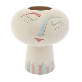 Vaso testa ceramica artigianale Girl