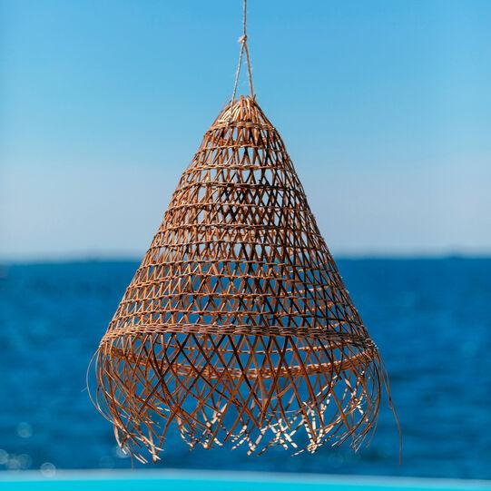 Hand-woven rattan lamp shade