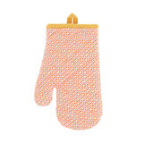 Oven mitt in 100% cotton with diamonds print