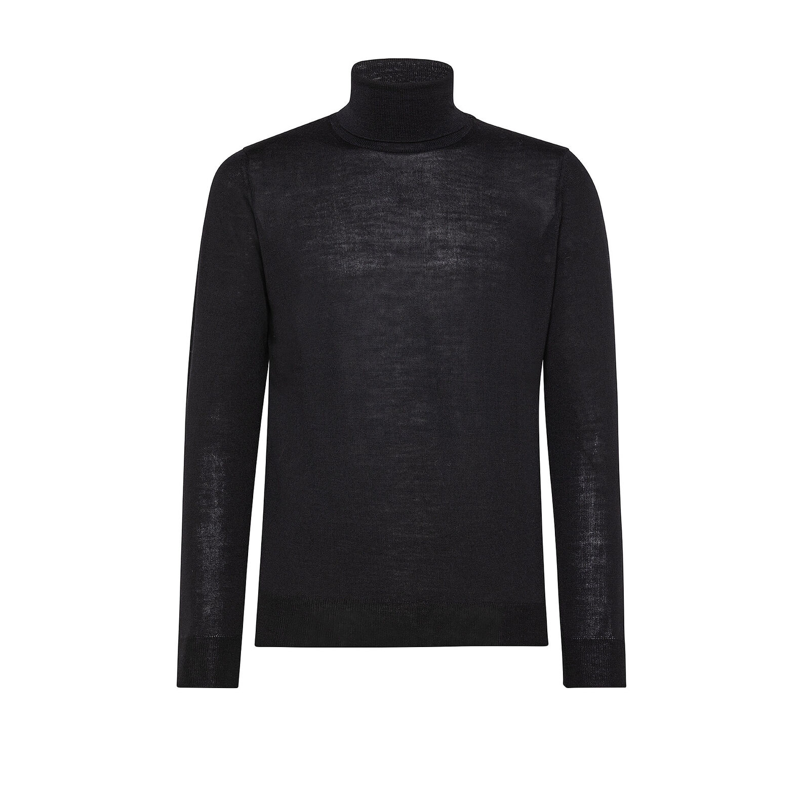 Extra-fine merino wool pullover with high neck
